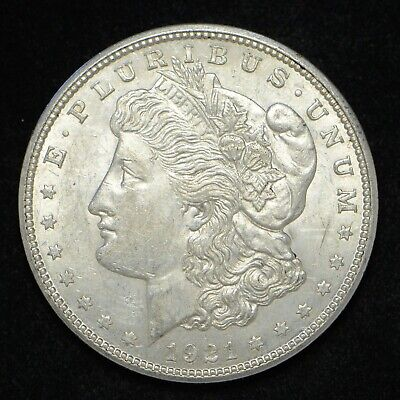 1921-D Morgan Silver Dollar AU++ (bb2422)