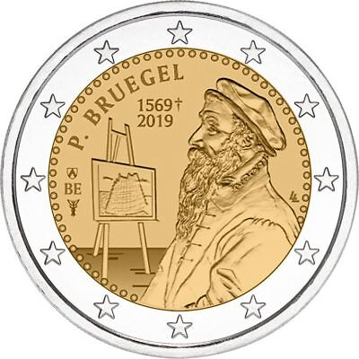 VORVERKAUF  Belgien 2019 2 Euro the Flemish painter Pieter Bruegel the Elder