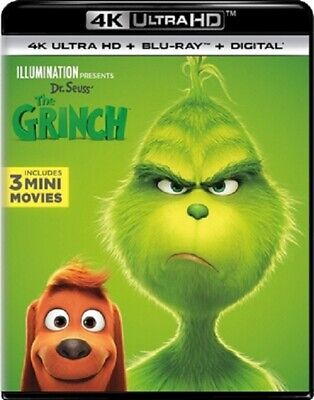 Dr. Seuss' The Grinch 4K UHD 01/19 4K (used) Blu-ray Only Disc Please Read