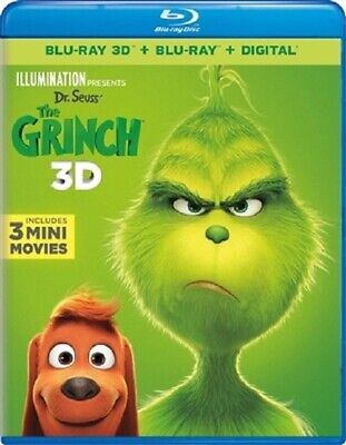 Dr. Seuss' The Grinch 3D 01/19 3D (used) Blu-ray Only Disc Please Read