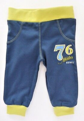 BNWT Baby Boys NAVY/Green  *Trousers *Joggers *Pants 100% COTTON **6-9 Months