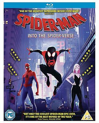 SpiderMan into the Spider-Verse (Spiderverse) - Blu Ray - New & Sealed UK Stock