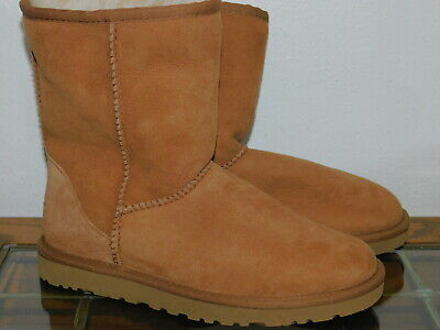 7f17f9a5896 UGG CLASSIC SHORT Florence Chestnut Suede Sheepskin Boots Size US 5 ...