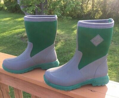 30a80a9efa3c Muck Boot Women s Breezy Mid-Height Boot Grey Green 5 M Excellent Condition!