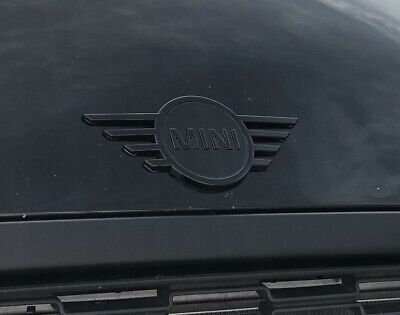 * MINI ORIGINAL * Badge Logo Capot / Front Emblem * BLACK * R56 R58 Cooper S JCW