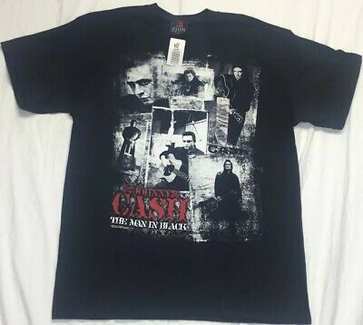 NWT Johnny Cash T Shirt Size Large 2008 Black Hot Topic New With Tag