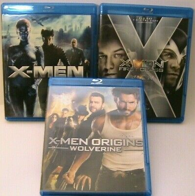 X-Men 3 Blu-Ray Lot Wolverine First Class X-Men 1 Buy 3 Get 1 Free