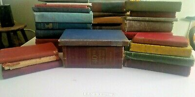 Vintage, Antique Hardcover Books Mixed Colors & Dates 1800's To 1960's Lot Of 10