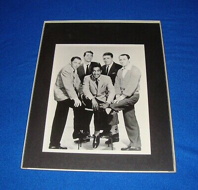 Black & White Large Picture of The Rat Pack Framed