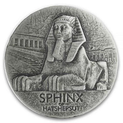 2019 Republic Of Chad Egyptian Relic 5 oz Silver PRE-SALE Sphinx Of Hatshepsut