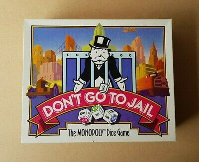 Vintage 1991 Don't Go To Jail The Monopoly Dice Game Complete Parker Brothers