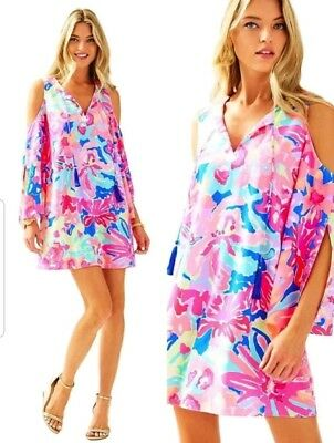 e5f8d77996d Lilly Pulitzer Benicia Cold Shoulder Multi Playa Hermosa Tunic Size X Small  Xs