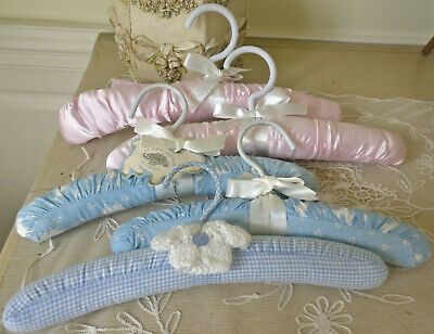 Padded Baby Clothes Hangers Vintage Laura Ashley Mother & Child Scarborough Lamb