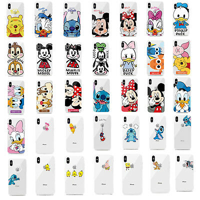 Cartoon Disney Minnie Stitch TPU Soft Phone Case For iPhone 5 6 7 8 X XS Max XR