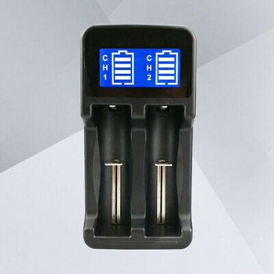 1pc Battery Charger 2 Slots Smart Safely Use Battery Charger for Rechargeable