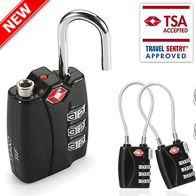 TSA Padlock -Number Code Combination Travel Lock Luggage Suitcase Long Wire Lock