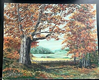 E.W.Bailey Oil On Board Gold Autumn Painting Signed By Artist. Beautiful.