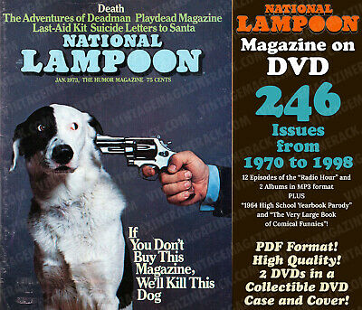 National Lampoon Magazine 246 Issues 1970-1998 PDF format on DVD w/ Custom Case