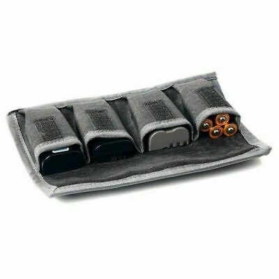 DSLR Battery Bag/ Holder/ Case Storage with 4 Pocket Pouch Luxury
