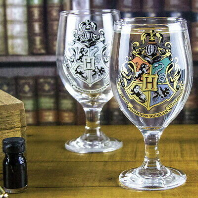 OFFICIAL Harry Potter Hogwarts Crest Logo Colour Changing Drinking Glass (NEW)