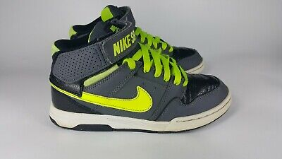 finest selection 927a4 50f5f Boys Nike Mogan Mid 2 Jr Skateboard High Top Basketball Sneakers-2Y-Yellow