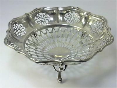 Antique hallmarked Sterling Silver Footed Bonbon / Sweetmeat Dish  – 1913  (94g)