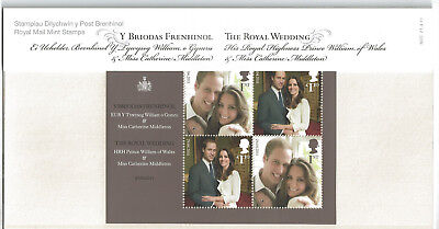 2011 THE ROYAL WEDDING Royal Mail Collectors Presentation Pack No M20