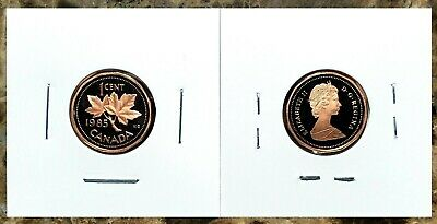 Canada 1985 Proof Gem UNC Small Cent Penny!!
