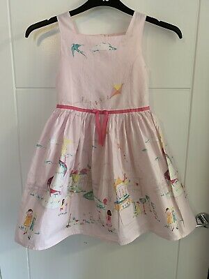 Girls Next Pink Fun Fair Print Prom Party Dress Size 7-8 Years