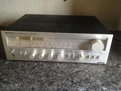 hitachi stereo receiver amplifier sr 504 excellent  phono input