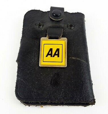 Vintage AA Key Wallet - Real Leather - Made in England