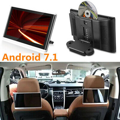 "10.1"" 1080P Car Headrest Monitor Android 7.1 CD DVD Player Speaker Quad Core 2x"