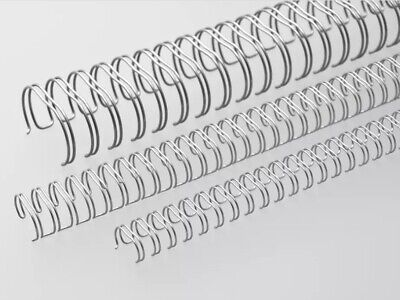 Renz Premium Quality 11mm 90 Sheet (No. 7) A4 3:1, 34 Loop Binding Wires, Silver