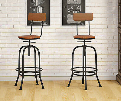 Rustic Industrial Vintage Retro Metal Breakfast Bar Stool Kitchen Counter Chair
