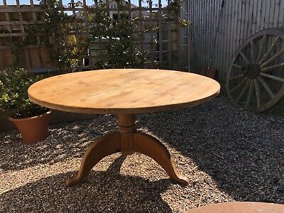 Antique Farmhouse Cottage Kitchen Dining Table Circular