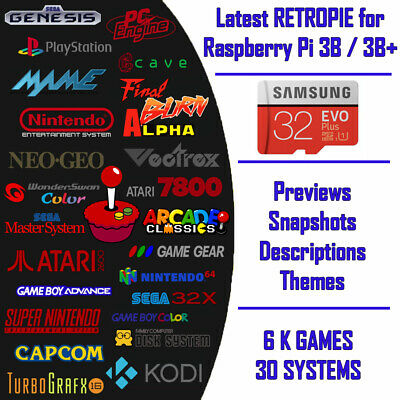 RETROPIE WITH 8,000 Games Image DIGITAL DOWNLOAD 32GB Raspberry pi