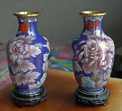 Pair of Cloisonne vases from China, new