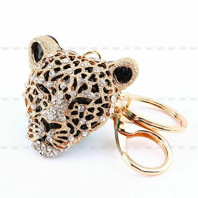 Alloy Rhinestone Animal Keyring Charm Pendant Purse Bag Key Ring Chain Keychain