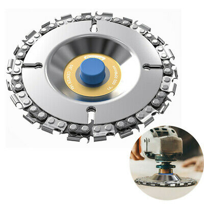 """4"""" Angle Grinder Disc Tooth Chain Saw For Wood Carving Cutting Plastics Tool LO"""