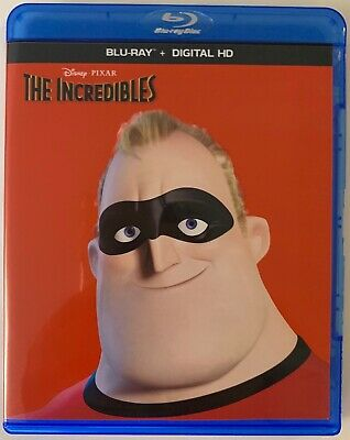 Disney Pixar The Incredibles Blu Ray 2 Disc Free World Wide Shipping Buy It Now