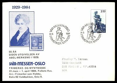 Norway 1984 FDC Niels Henrik Abel First Day Cover