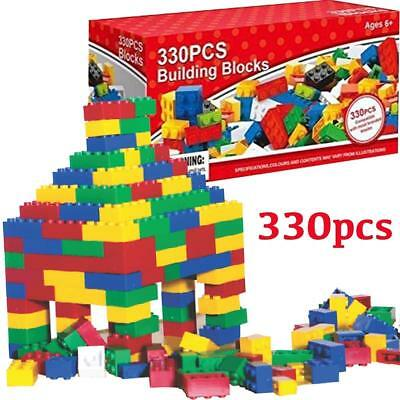 330Pcs Children Diy Creative Game Kids Bricks Building Blocks Educational Toys