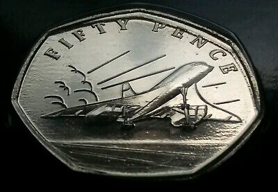 In Stock 2019 The 50th Anniversary of Concorde 50p Coin Hunt BUNC Uncirculated