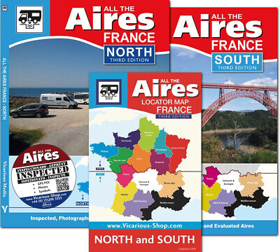 All the Aires France North & South 3rd Motorhome campervan Vicarious Books Media