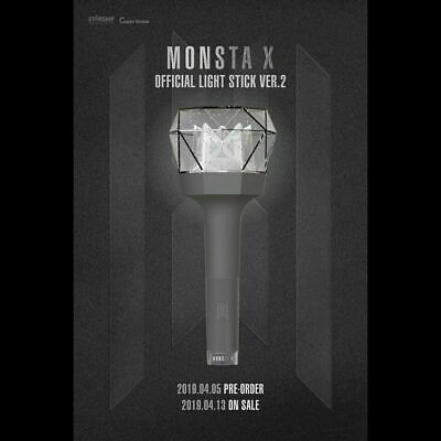 MONSTA X OFFICIAL FANLIGHT STICK VER2. KPOP Gift+Tracking No.(Free shipping)