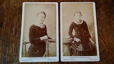 1870'S Antique Cdv Photographs Johnstone O'shannessy & Co Melbourne Australia