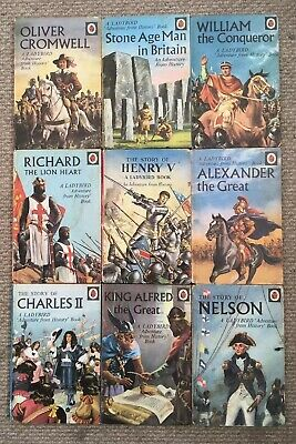 9 Vintage Ladybird 'Adventures From History' Books Series 561 Good Condition