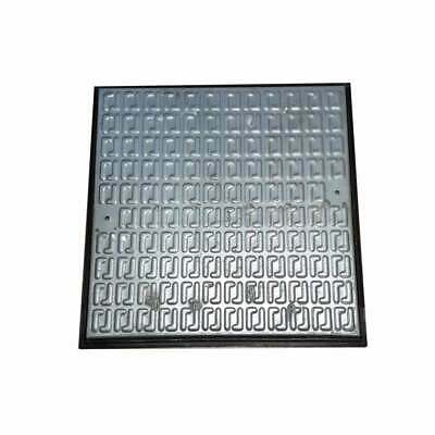 Pedestrian Manhole Cover - Galvanised Steel and PVC Frame 610x610mm