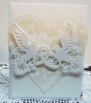 Wedding Dove Rings Metal Cutting Dies Stencil Embossing Die Cutter Template DIY