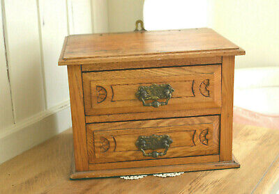Old Wooden Drawers Chest Box - Handy Storage Jewellery Stationary Box